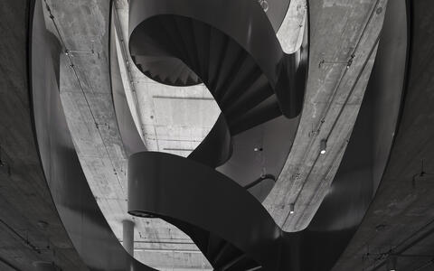 Spiral staircase in MDC research building in Berlin Mitte