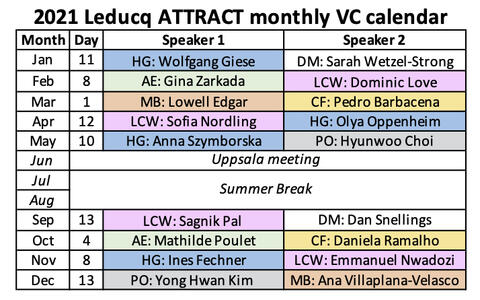 2021 Leducq ATTRACT VC schedule