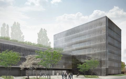 The illustration shows how the new BIMSB building will look after completion in 2018