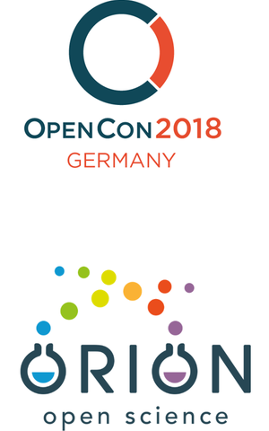 OpenCon2018 Germany and ORION Logos