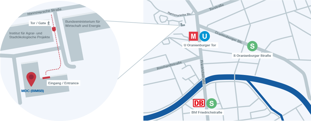 Directions to MDC Berlin Center (BIMSB)